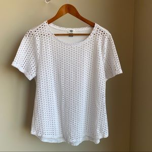 🌟2/$12🌟Old Navy Pure🤍White🤍Textured 'Dots' Top
